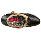 Fekete Bézs 14,5 cm TEEZE-24 női cipők a magassarkű