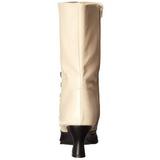 Fekete Bézs Női Bokacsizma 7 cm VICTORIAN-123