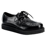 Fekete Bőr 2,5 cm CREEPER-602 Platform Creepers Cipők Férfi