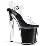 Fekete Csillámos 20 cm XTREME-808G Platform Magassarkú Cipők