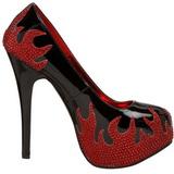 Fekete Csillogó Kövekkel 14,5 cm Burlesque TEEZE-27 női cipők a magassarkű