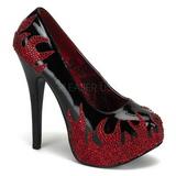 Fekete Csillogó Kövekkel 14,5 cm Burlesque TEEZE-27 női cipők magassarkű