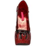 Fekete Csillogó Kövekkel 14,5 cm TEEZE-27 női cipők a magassarkű