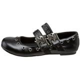 Fekete Demonia DAISY-03 Lapos Balerina Cipők