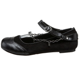 Fekete Demonia DAISY-07 Lapos Balerina Cipők
