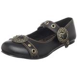 Fekete Demonia DAISY-09 Lapos Balerina Cipők