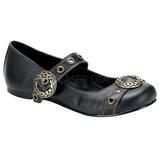 Fekete Demonia DAISY-09 Lapos Balerínky Cipők