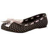Fekete Demonia DAISY-20 Lapos Balerínky Cipők