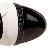 Fekete Fehér 10,5 cm EXOTICA-1050 női platform bokacsizma
