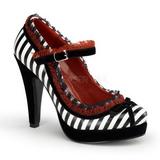 Fekete Fehér 11,5 cm BETTIE-18 női cipők a magassarkű