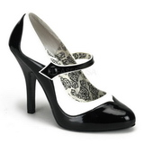 Fekete Fehér 11,5 cm TEMPT-07 női cipők a magassarkű
