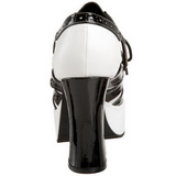 Fekete Fehér 11 cm GANGSTER-15 női cipők a magassarkű