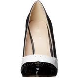 Fekete Fehér 13 cm AMUSE-26 női cipők a magassarkű
