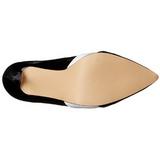Fekete Fehér 13 cm AMUSE-26 női cipők magassarkű