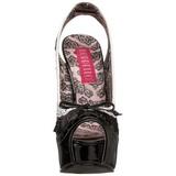 Fekete Fehér 14,5 cm Burlesque TEEZE-17 női cipők a magassarkű