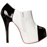 Fekete Fehér 14,5 cm Burlesque TEEZE-20 női cipők magassarkű