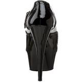 Fekete Fehér 15,5 cm DELIGHT-688 női cipők a magassarkű