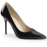 Fekete Lakk 10 cm CLASSIQUE-20 Körömcipők Tűsarkú Magas Cipők