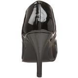 Fekete Lakk 10 cm DREAM-420 Magassarkú Körömcipők