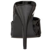 Fekete Lakk 13 cm Pleaser SEDUCE-101 Papucs Női Cipők