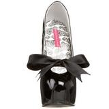 Fekete Lakk 14,5 cm Burlesque TEEZE-12 női cipők a magassarkű