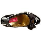 Fekete Lakk 14,5 cm Burlesque TEEZE-14 női cipők a magassarkű