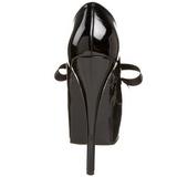 Fekete Lakk 14,5 cm TEEZE-12 női cipők a magassarkű