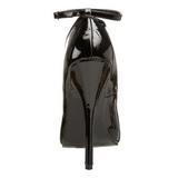 Fekete Lakk 15,5 cm DOMINA-431 Női Körömcipők