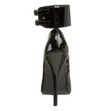 Fekete Lakk 15,5 cm DOMINA-434 Magassarkú Körömcipők