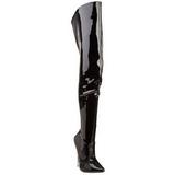 Fekete Lakk 15,5 cm SCREAM-3010 Overknee Csizma - Térdcsizma
