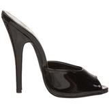 Fekete Lakk 15 cm DOMINA-101 Papucs Női Cipők