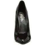 Fekete Lakk 15 cm DOMINA-420 Körömcipők Tűsarkú Magas Cipők
