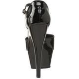 Fekete Lakk 15 cm KISS-248 női cipők a magassarkű