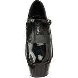 Fekete Lakk 15 cm KISS-280 női cipők a magassarkű