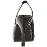 Fekete Lakkbőr 11,5 cm PINUP-10 nagy méretek szandál női