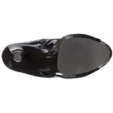 Fekete Lakkbőr 18 cm ADORE-1021 női platform bokacsizma