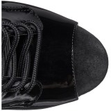 Fekete Lakkbőr 20 cm FLAMINGO-1021 női platform bokacsizma