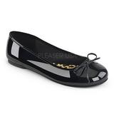 Fekete Lakkbőr ANNA-01 nagy méretek balerínky cipők