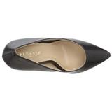 Fekete Matt 13 cm AMUSE-20 Körömcipők Tűsarkú Magas Cipők