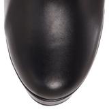 Fekete Matt 13 cm Pleaser ELECTRA-2000Z Platform Női Csizma