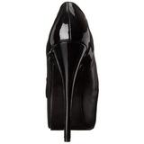 Fekete Matt 14,5 cm TEEZE-20 női cipők a magassarkű