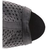 Fekete Matt 15 cm DELIGHT-1011 női platform bokacsizma