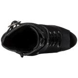 Fekete Matt 15 cm DELIGHT-1033 Nyitott Orrú Bokacsizma Női