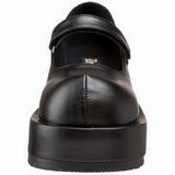 Fekete Matt 8,5 cm DOLLY-01 Gótikus Körömcipők Platformos
