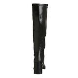 Fekete Matt 8,5 cm GOGO-300 Női Csizma a Férfi