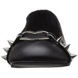 Fekete Matt Demonia STAR-21 Lapos Balerina Cipők