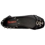 Fekete Matt Demonia STAR-23 Lapos Balerina Cipők