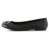 Fekete Matt Demonia STAR-24 Lapos Balerina Cipők
