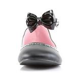Fekete Matt Demonia STAR-27 Lapos Balerina Cipők