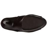 Fekete Műbőr 18 cm ADORE-1021 női platform bokacsizma